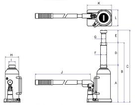 BJ500 Con đội thủy lực 50 tấn