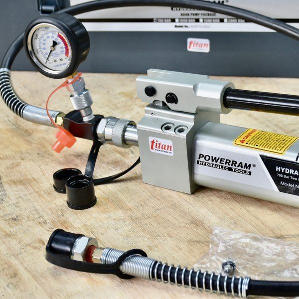 AHP701BG bơm thủy lực 500ml, áp suất lớn 700 bar, hoạt động bằng tay.