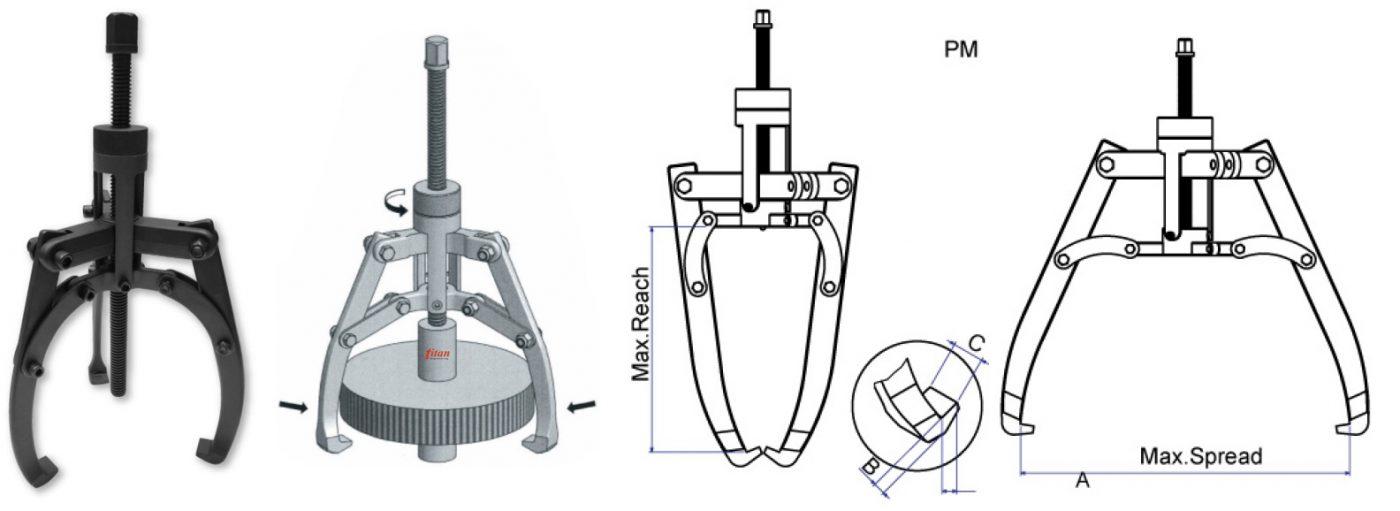 Kết cấu của cảo cơ khí Powerram