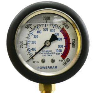 """M0039 đồng hồ áp suất 1000 bar, chân ren 1/4"""" NPT, có dung dịch giảm chấn"""