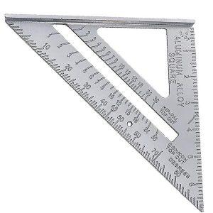 TTG01 Thước tam giác cai trị 90 độ, hộp kim nhôm ( đo góc vuông)