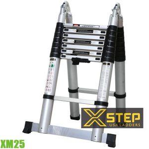 XM25 Thang Nhôm Rút Chữ A, 2.5m, mở thang 5 m XSTEP
