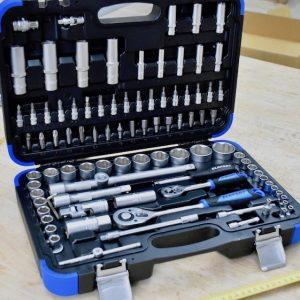 Vali đựng bộ socket 94 món đầu vuông 1/4 và 1/2 inch