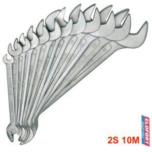 2S 10M bộ cờ lê 2 đầu miệng 10 cây từ 6 đến 27mm chuẩn DIN 3110