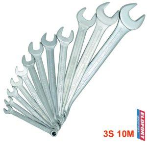 3S-10M bộ cờ lê vòng miệng 10 cây từ 6 đến 22mm chuẩn DIN 3113