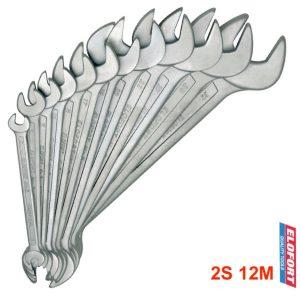 2S12M bộ cờ lê 2 đầu miệng 12 cây từ 6 đến 32mm