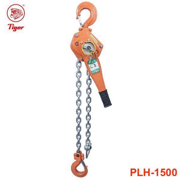 PLH-1500 pa lăng xích lắc tay 15 tấn, loại professional, chiều cao nâng 1.5m