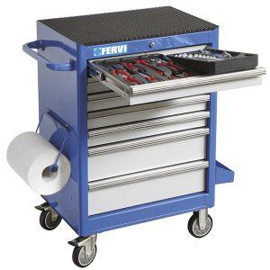 C960C tủ đồ nghề 291 chi tiết, 7 ngăn kéo, chuyên cho garage xe. FERVI Italia.
