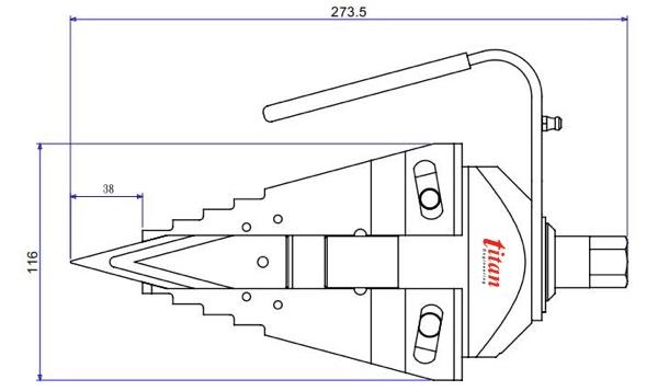 Bộ tách mặt bích bằng cơ khí SM9T khi mở hết hành trình