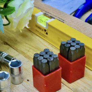 Bộ đục số chấm bi 3-8mm
