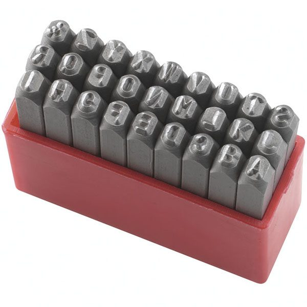 P012L bộ đục chữ bao gồm 27 ký tự độ cứng 58-60HRC