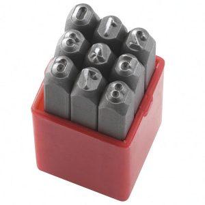 P012N bộ đục số bao gồm 9 ký số độ cứng 58-60HRC