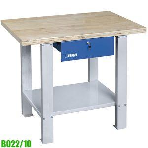 B022/10 Bàn nguội mặt gỗ 1 ngăn kéo khóa, 1000 x 640 x 865h mm