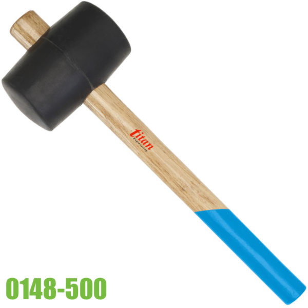 0148-500 búa cao su 500g cán bằng gỗ, đầu búa phi 65mm