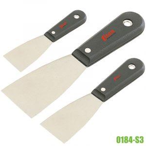 0184-S3 bộ dao bả bột gồm 3 cây, cán bằng nhựa cứng FERVI.