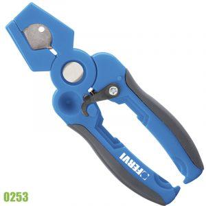 0253 kéo cắt ống nhựa PE, PU, cao su, đường kính tới 19mm