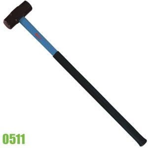 0511 búa tạ 3,5kg đầu sắt lục lăng, cán bọc cao su chống tuột tay.