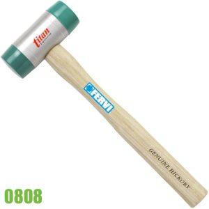 0808 búa nhôm đầu nhựa cán bằng gỗ hồ đào