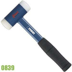 0839 búa đầu nhựa, cán sắt bọc cao su tăng ma sát, chống tuột tay.