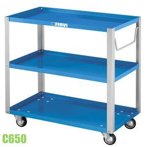 C650 xe đẩy hàng 3 tầng, kích thước 800x450x800mm