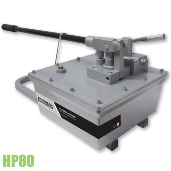 HP80 bơm thủy lực 1 chiều 8 lít dầu, lưu lượng 4ml mỗi hành trình.