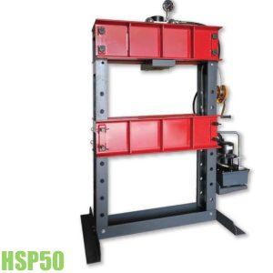 HSP50 Máy ép thủy lực 50 tấn, khung chữ H, bơm tay hoặc điện 700 bar.