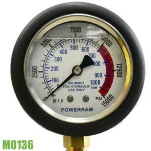 M0136 đồng hồ áp suất dầu thủy lực đường kính ngoài 100mm.