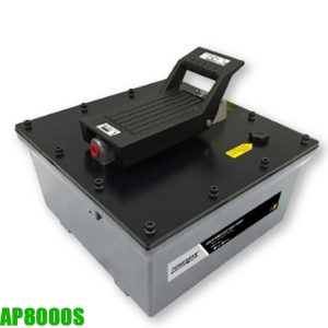 AP8000S bơm thủy lực bằng khí nén 1 chiều, dung tích dầu 8 lít.