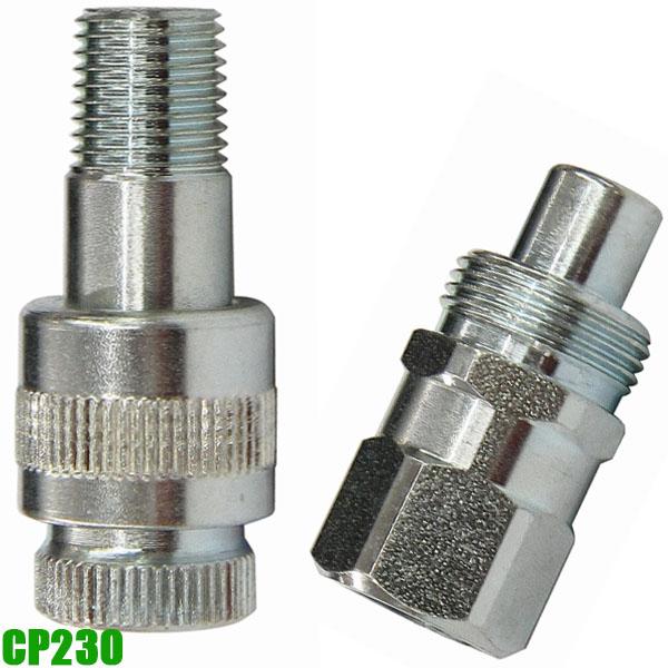 CP230 co nối chân đồng hồ áp suất dầu thủy lực Powerram Taiwan.
