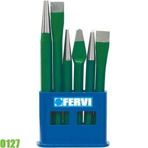 0127 Bộ đục các loại gồm 6 chi tiết, 120 - 150 mm