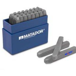 071210 Bộ đục chữ 27 chi tiết, size 4-8mm. Matador Germany