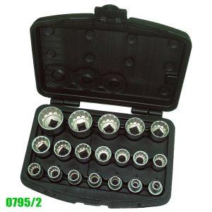 0795/2 Bộ khẩu socket 19 đầu, size 8-32mm