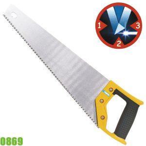 0869 Cưa cầm tay, lưỡi 3 cạnh, dài 400 mm, cán bọc nhựa