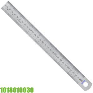 1018010030 Thước lá inox 300mm, bản thước 30 x 1.0 mm. Vogel