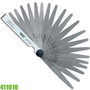 411010 Thước căn lá đo khe hở 0.03-1.0mm, gồm 26 lá