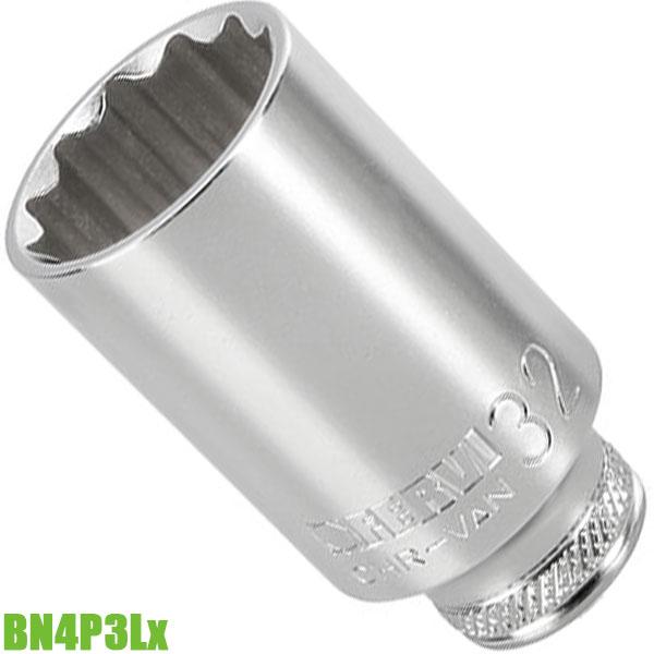 """BN4P3Lx đầu tuýp 12 cạnh 8-32mm, vuông 1/2"""". Chuẩn DIN 3124"""