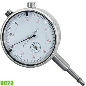 C023 Đồng hồ so cơ 0-10 mm, độ chính xác 0,015 mm. FERVI