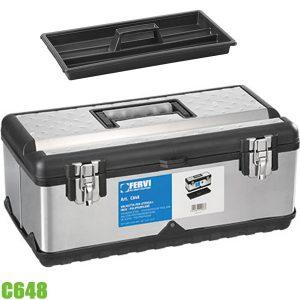 C648 thùng đựng đồ nghề bằng inox và nhựa, loại xách tay