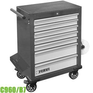 C960/B7 Tủ đựng dụng cụ 7 ngăn, 890 x 458 x 994 mm