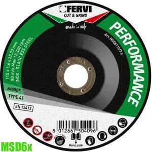 MSD6x Đĩa cắt đường kính từ Ø 115 đến Ø 350mm. Fervi Italia