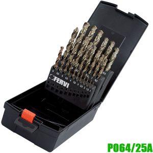 P064/25A Bộ mũi khoan 25 chi tiết 1-13mm. Chuẩn DIN 338