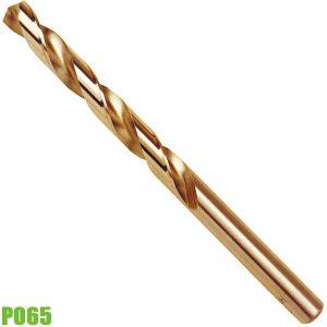 P065 Mũi khoan thép chuôi trụ, đường kính phay ø1 đến 13mm, chuẩn DIN 338