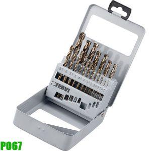 P067 Bộ mũi khoan 19 chi tiết 1-10mm. HSS - Co 5%