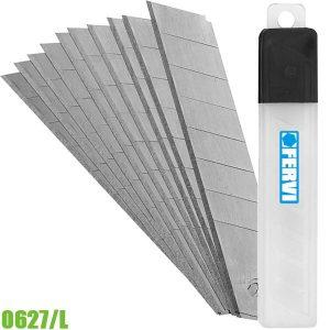0627/L bộ dưỡi dao cắt giấy gồm 10 lưỡi dài 9mm. FERVI Italia