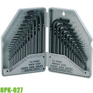 8PK-027 Bộ lục giác 30 cây hệ mét và inch Pro'skit