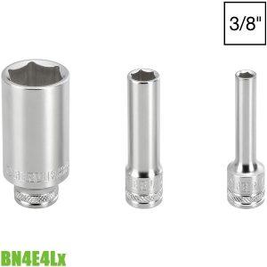 BN4E4Lx đầu tuýp 6 cạnh 6-22mm, vuông 3/8″. Chuẩn DIN 3124