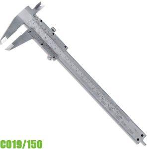C019/150 Thước kẹp cơ khí 0 -150mm, ngàm đôi, chuẩn DIN 862