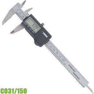 C031/150 Thước kẹp điện tử 0 -150mm, ngàm đôi, chuẩn DIN 862