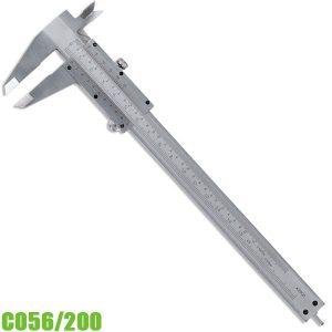 C056/200 Thước kẹp cơ khí 0 -200mm, ngàm đôi, chuẩn DIN 862