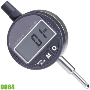 C064 Đồng hồ so điện tử 0 - 12,7 mm, độ chính xác 0,02 mm. FERVI